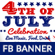 4th of July Facebook Ad Banner - GraphicRiver Item for Sale