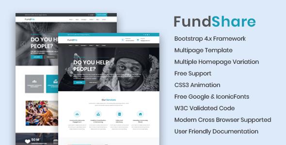 FundShare - Premium HTML Template