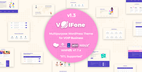 Voifone | Multipurpose VOIP WordPress Theme