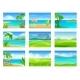 Set of Different Summer Landscapes - GraphicRiver Item for Sale