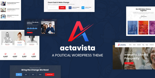 Actavista - A Responsive Political WordPress Theme For Politicians and Political Organizations