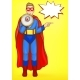 Superman Boy with Loudspeaker - GraphicRiver Item for Sale