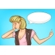 Woman Flipping Someone Off Cartoon Vector Concept - GraphicRiver Item for Sale