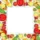 Hand Drawn Exotic Fruit Frame Isolated on White - GraphicRiver Item for Sale