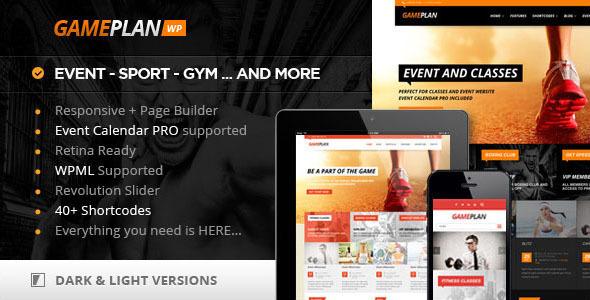 Gameplan - Event and Gym Fitness WordPress Theme