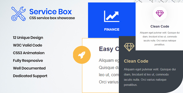 Service Box - CSS Layouts for Service Box