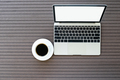 Coffee time with laptop and coffee cup - PhotoDune Item for Sale