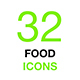 Food and Drinks Isolated Vector Icon Set - GraphicRiver Item for Sale
