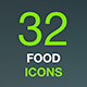 Food and Drinks Icon Set in Flat Modern Design Style - GraphicRiver Item for Sale