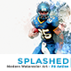 Splashed - Modern Watercolor Art   PS Action - GraphicRiver Item for Sale