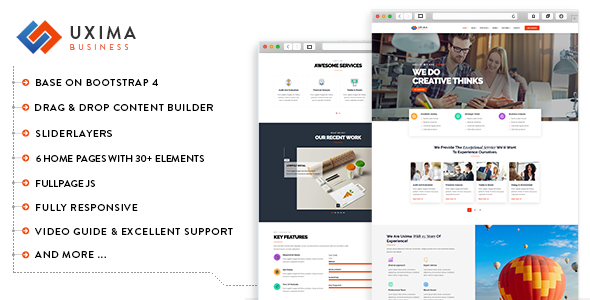 Uxima - Responsive Multipurpose Business Drupal 8.7 Theme