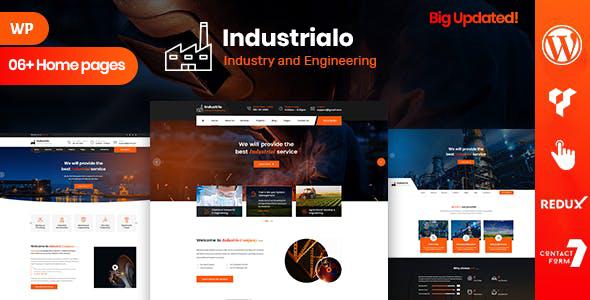 Industrio - Industrial Industry & Factory WordPress