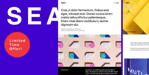 SEA | Responsive Creative Multi-Purpose WordPress Theme