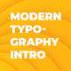 Modern Typography Intro - VideoHive Item for Sale
