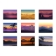Set of Night and Evening Landscapes - GraphicRiver Item for Sale