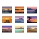 Set of Night and Evening Landscapes at Sunset - GraphicRiver Item for Sale