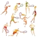 Set of Images of Tennis Players - GraphicRiver Item for Sale