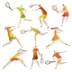 Set of Images of Abstract Tennis Players - GraphicRiver Item for Sale