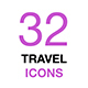 Set of Travel Icons Isolated on a White Background - GraphicRiver Item for Sale