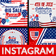 4th of July Instagram-6 Design- Image Included - GraphicRiver Item for Sale