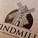 Windmill Landscape Logo - GraphicRiver Item for Sale