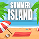 Tropical Island Summer Logo