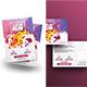 Color Run Festival Flyer with Postcard Bundle - GraphicRiver Item for Sale