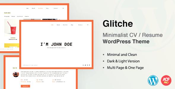 Glitche CV/Resume Theme