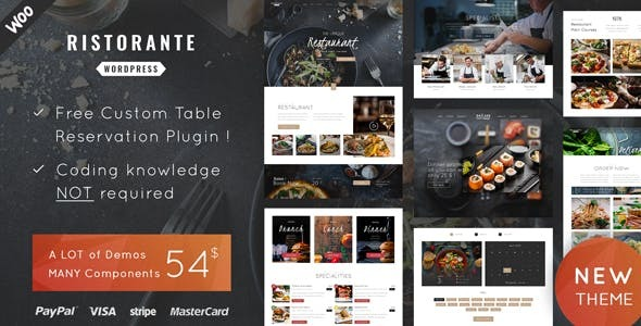 Ristorante Restaurant - Restaurant Wordpress For Restaurant