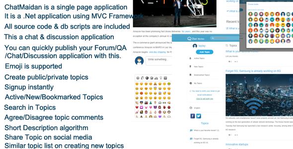ChatMaidan Chat & Discussion & Forum .Net MVC Portal