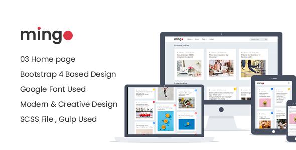 Mingo – Magazine & Blog Responsive HTML Site Template