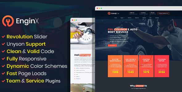 EnginX – Auto Repair Service WordPress Theme