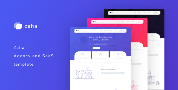 Zaha - Agency and SaaS Template