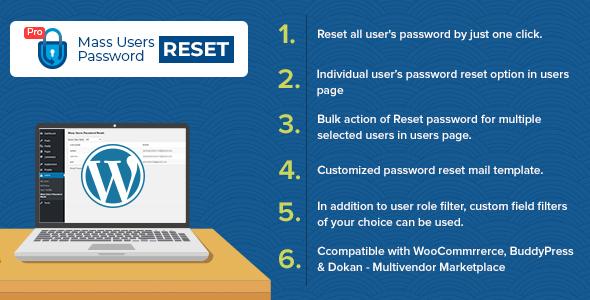 Mass Users Password Reset Pro, Mass Users Password Reset Pro free download, Mass Users Password Reset Pro nulled, Mass Users Password Reset Pro review, Mass Users Password Reset Pro plugin download