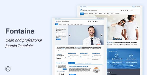 Fontaine - responsywny szablon biznesowy Joomla