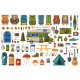 Camping and Hiking Design Elements - GraphicRiver Item for Sale
