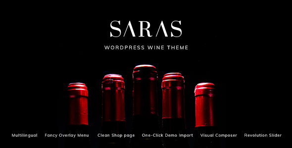 Download Saras – Wine WordPress Theme nulled 01 preview