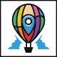 Balloon Locator Logo - GraphicRiver Item for Sale