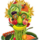 Colorful Face Made Of Fruits And Vegetables - GraphicRiver Item for Sale