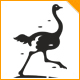 Running Ostrich Logo - GraphicRiver Item for Sale
