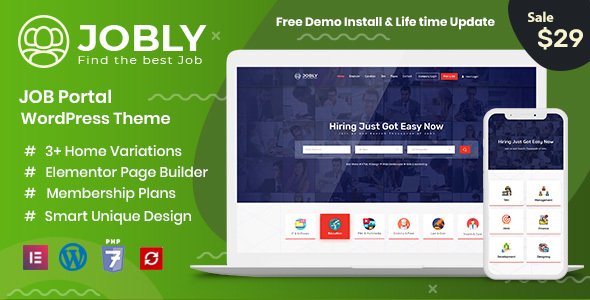 Jobly - Career Builder WordPress Theme