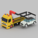 low poly Tow truck - 3DOcean Item for Sale
