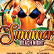 Summer Beach Night - GraphicRiver Item for Sale