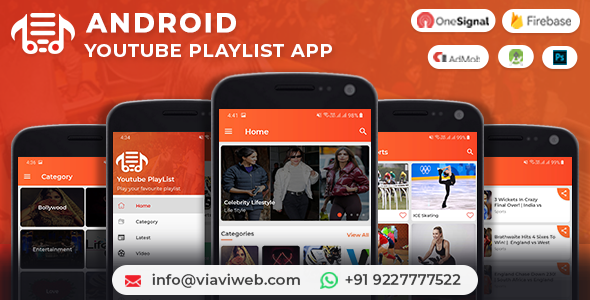 Make A YouTube App With Mobile App Templates from CodeCanyon