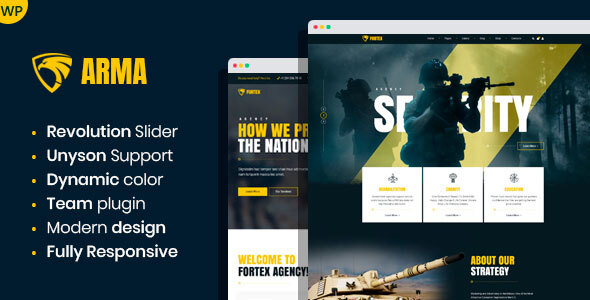 Arma - Military Service WordPress Theme