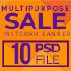 Multipurpose Sale Instagram Banners - GraphicRiver Item for Sale