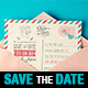 Save the Date - Vintage Wedding Postcard - GraphicRiver Item for Sale