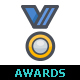 25 Awards & Trophy Full-Color Icon - GraphicRiver Item for Sale