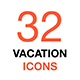Thin Line Vector Icon Set. Summer vacation and travel. - GraphicRiver Item for Sale