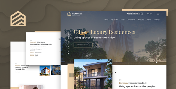 Hompark | Real Estate & Luxury Homes Theme